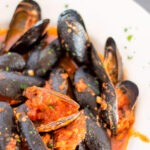 vertical RED WHINE MUSSELS MARTINOS ITALIAN